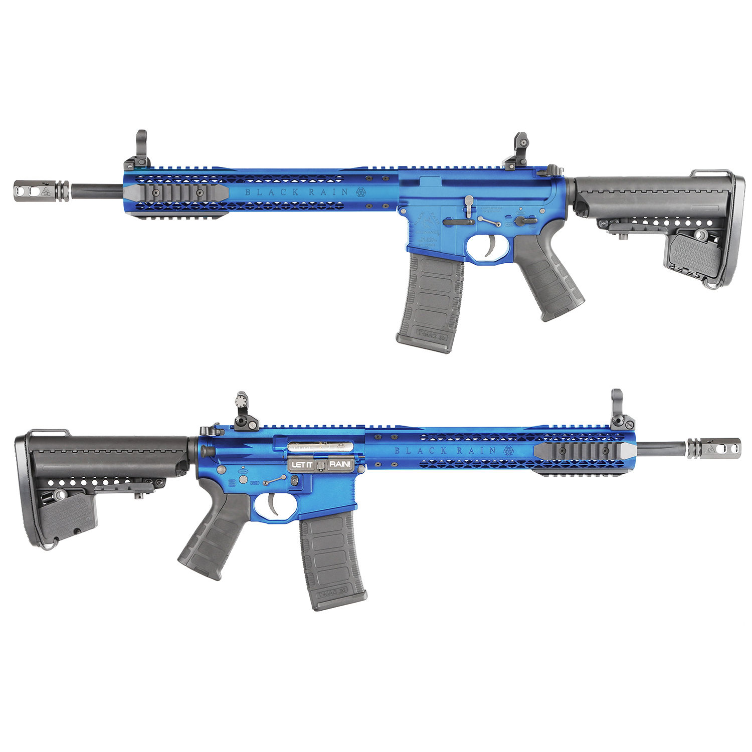 King Arms Black Rain Ordnance Licensed AEG Rifle - BLUE