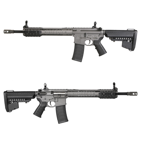 King Arms Black Rain Ordnance Licensed AEG Rifle - Carbine Grey