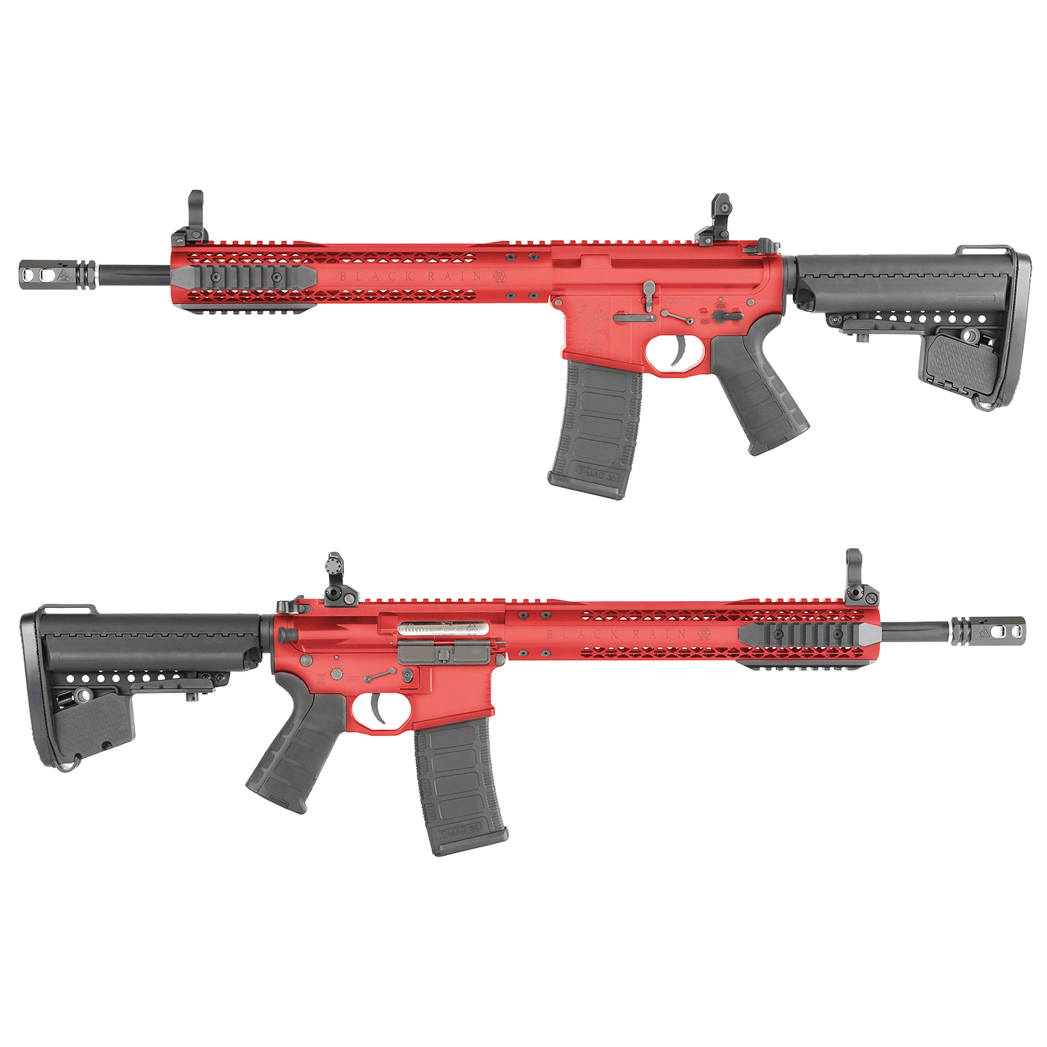 King Arms Black Rain Ordnance Licensed AEG Rifle - RED