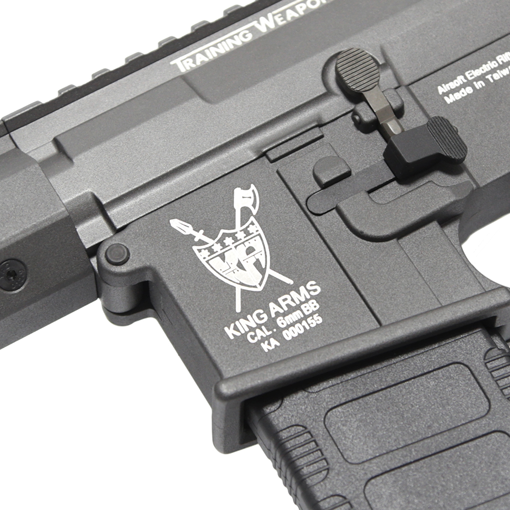 King Arms M4 Training Weapon System Keymod AEG Rifle - CQB, GREY