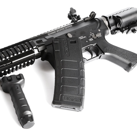 King Arms M4 Training Weapon System Keymod AEG Rifle -VIS CQB BK