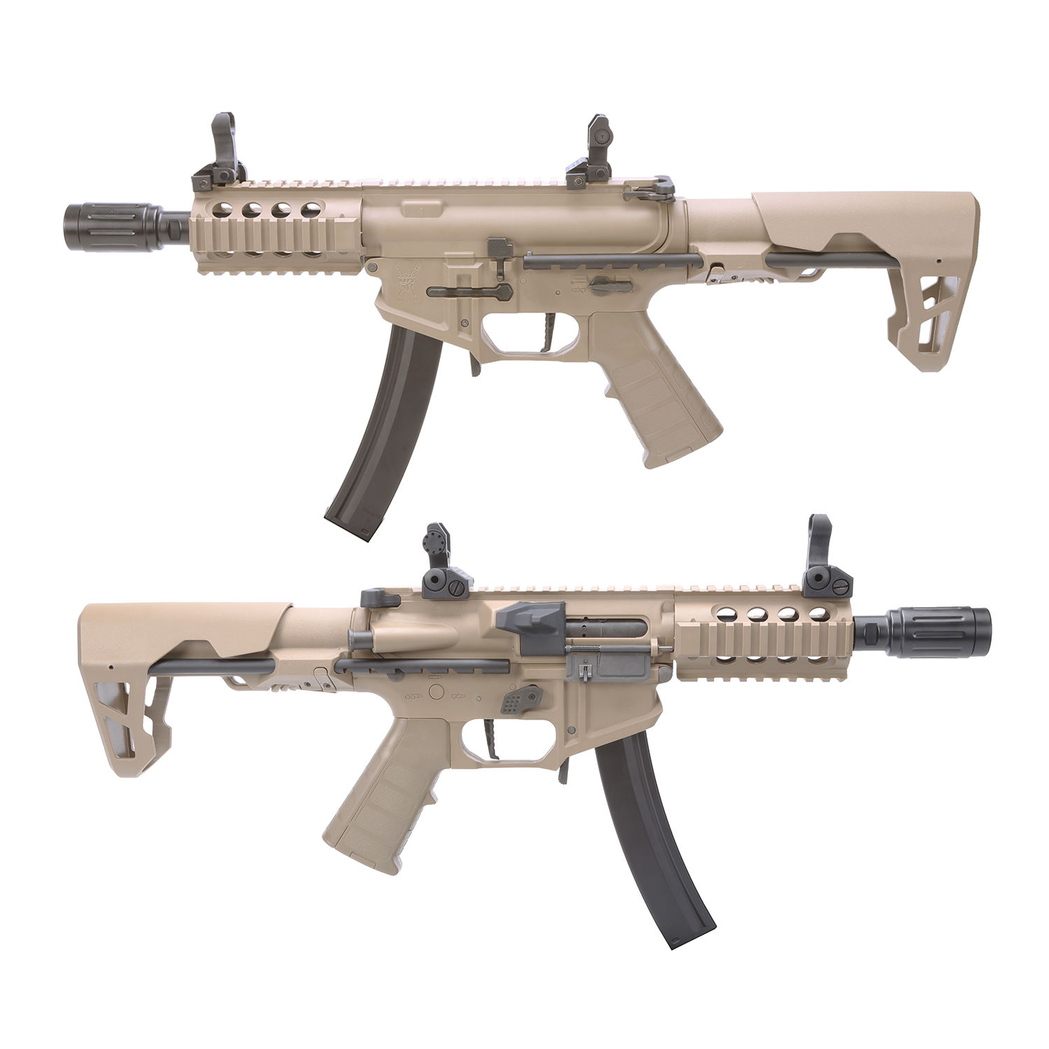 King Arms PDW 9mm SBR Shorty AEG w/ Mosfet - DE (Polymer)