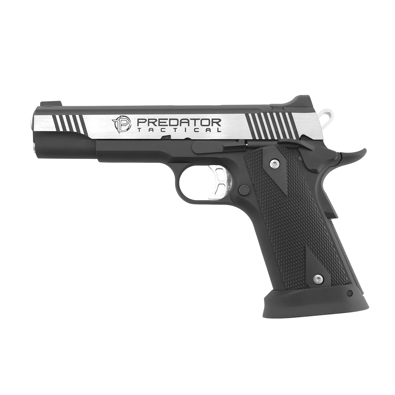 King Arms Predator Iron Shrike Full Metal GBB Pistol - Two Tone