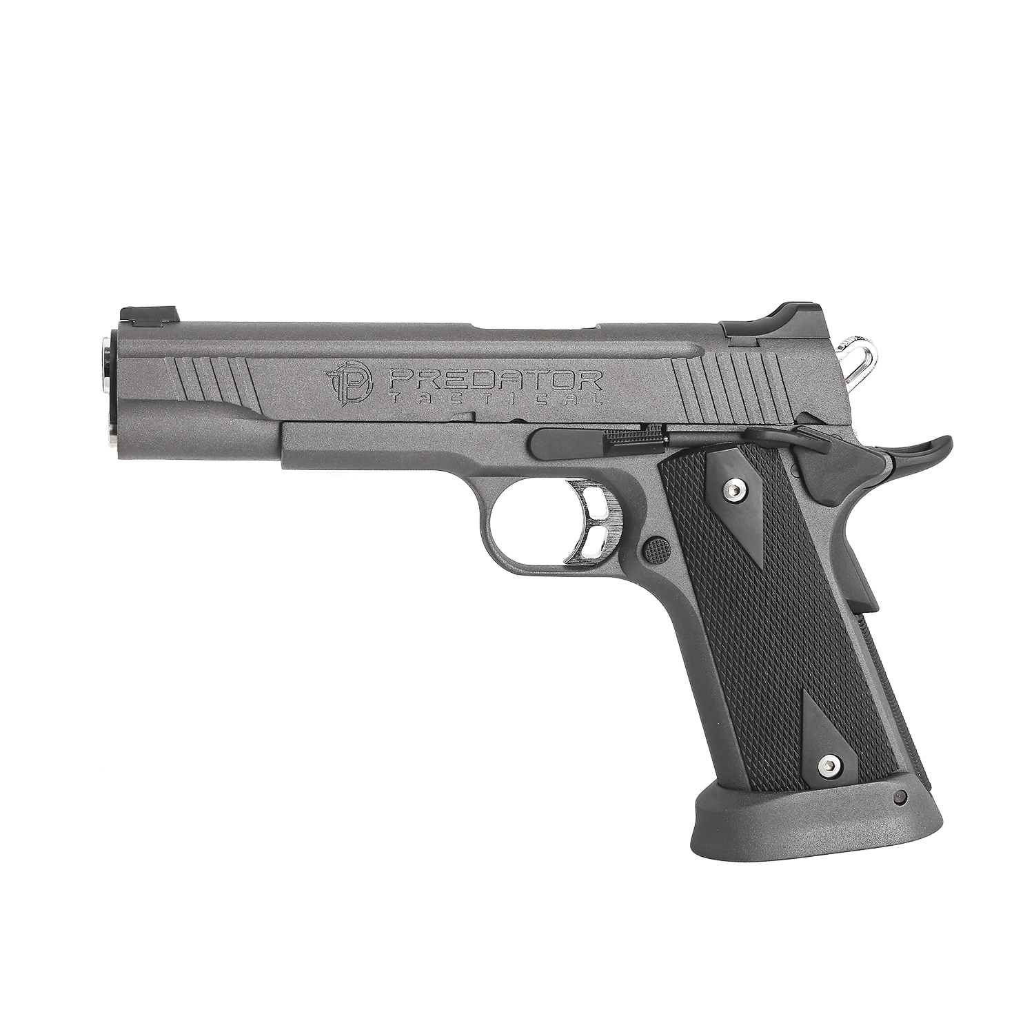 King Arms Predator Iron Shrike Full Metal GBB Pistol - Grey