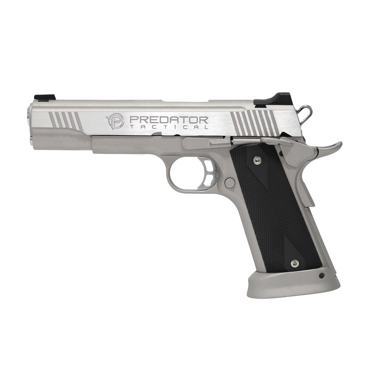 King Arms Predator Iron Shrike Full Metal GBB Pistol - Silver