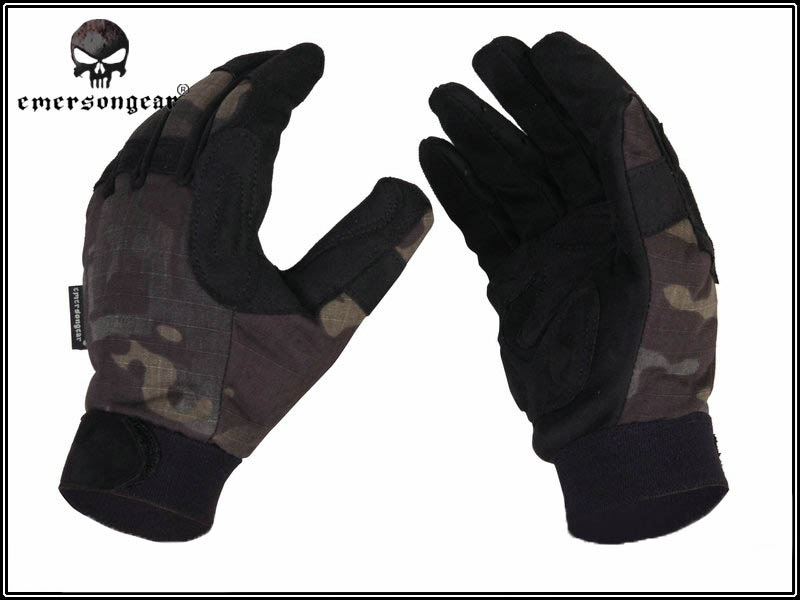 Emerson Tactical Lightweight Camo Gloves - Multicam Black - L