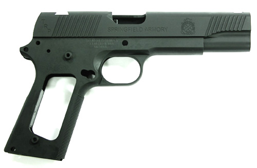 Guarder Aluminum Slide & Frame for MARUI MEU Series -TRP - Black