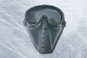 SRC AirSoft Mesh Mask - Black ( Made In Taiwan )