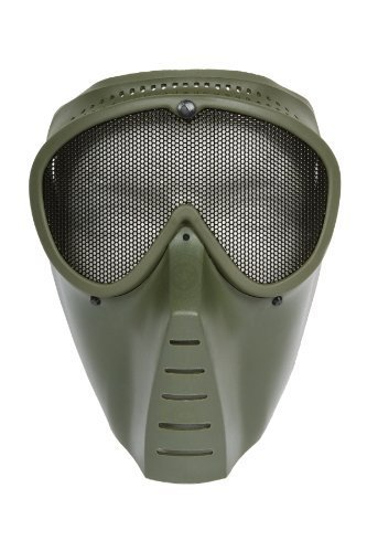 SRC AirSoft Mesh Mask - Green ( Made In Taiwan )
