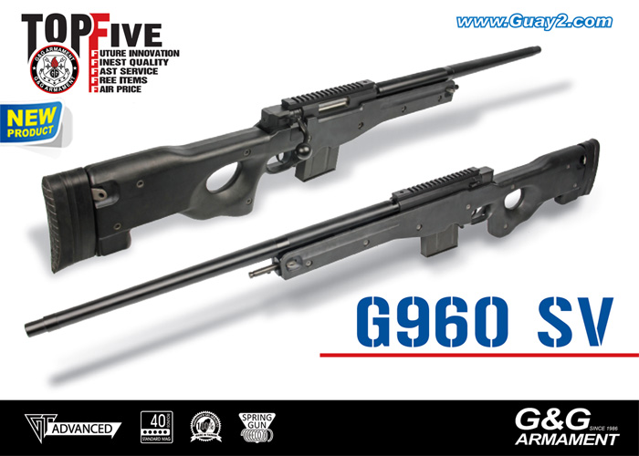 G&G G960 SV Spring Sniper Rifle - Black
