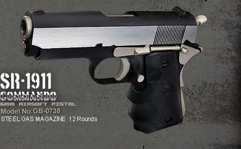SRC 1911 Shorty Commando 6mm GBB Pistol