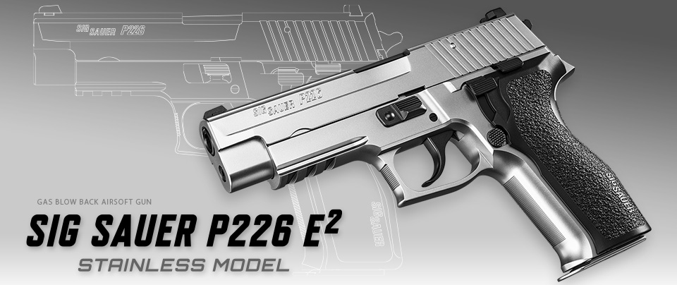 Tokyo Marui Sig P226 E2 GBB Pistol - Stainless Silver