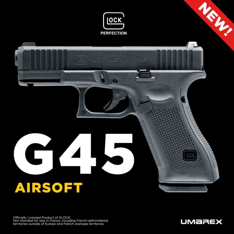 "Umarex (VFC) Glock 45 Licensed Gas Blowback ""Crossover"" Pistol"
