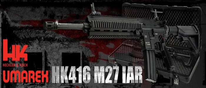 VFC Umarex Full Metal HK416 M27 IAR Gas Blow Back Rifle