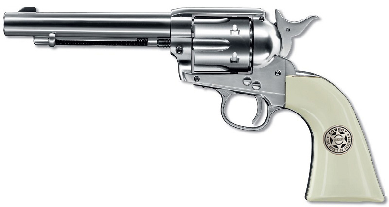 Umarex (WG) SAA .45 Peacemaker Revolver - Sheriff Ver. Silver