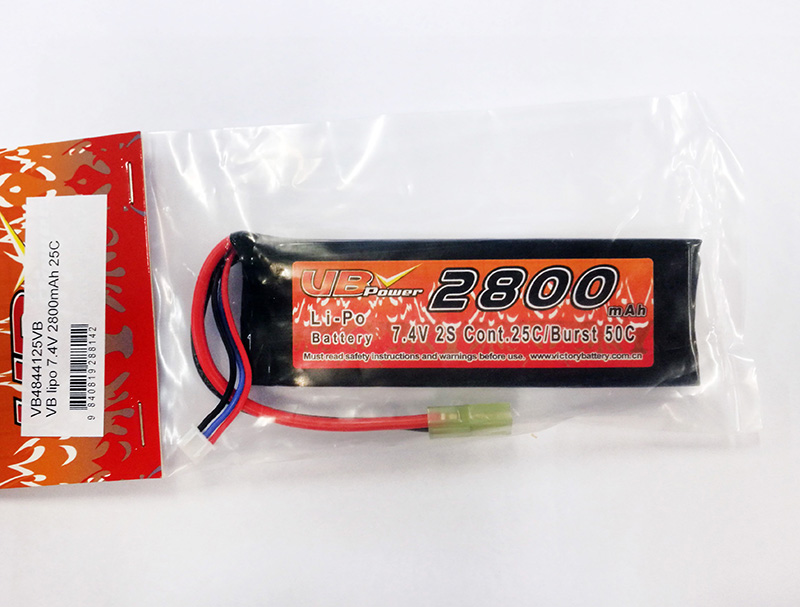 VB Power Li-Po 7.4V 2800mAh 25C Battery