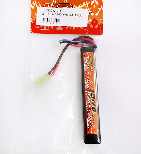 VB Power Li-Po 11.1V 1300mAh 15C Battery - Stick