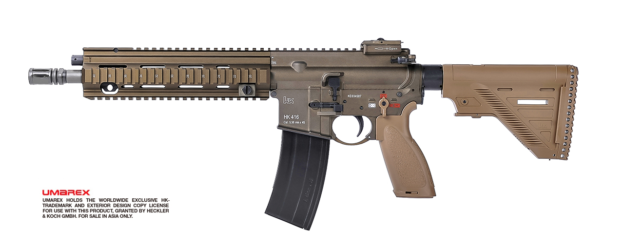 VFC (Umarex) HK 416 A5 GBB Rifle - TAN / RAL8000 (Asia Edition)