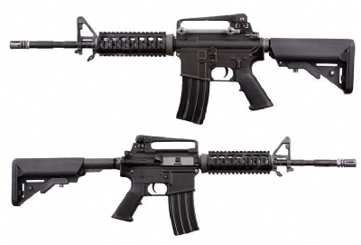 WE M4 RIS Full Metal AEG Rifle - Black