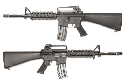 WE M4 SR 16 Full Metal AEG Rifle - Black