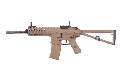 WE PDW Automatic Electric AEG Rifle - Long Version, Tan