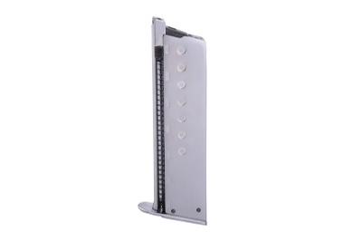 WE 13rd P38 Full Metal GBB Magazine - Silver