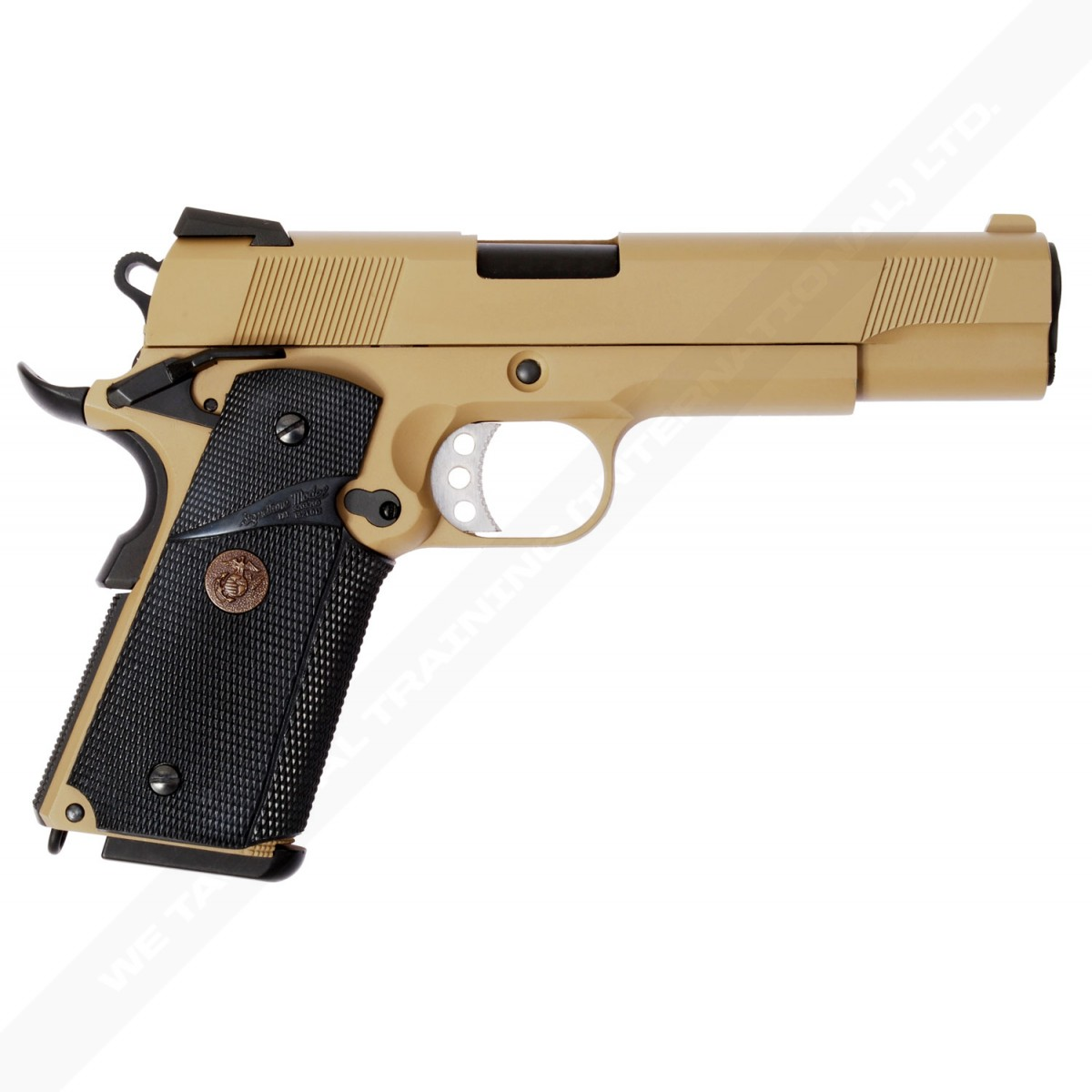 WE 1911 / MEU Full Metal Gas Blowback Pistol - Tan