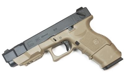 WE Glock G26C GBB Pistol - TAN