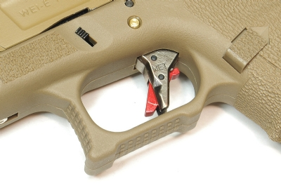 WE G35 G Force T9 Custom GBB Pistol (Full Auto) - Tan w/ Gold