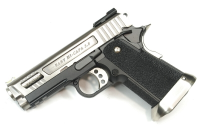 WE Hi Capa 3.8 Force Velociraptor Full Metal GBB - Silver