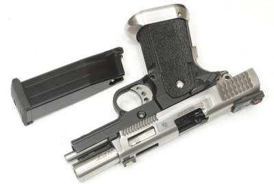 WE Hi Capa 3.8 Force Brontosaurus Full Metal GBB - Silver