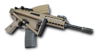 WE KAC PDW Metal Open Bolt Gas Blowback Rifle - Tan, Long Barrel