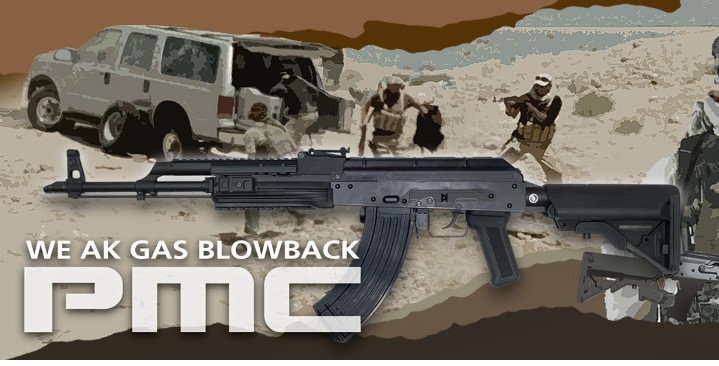 WE AK74 PMC Full Steel Gas Blowback Rifle