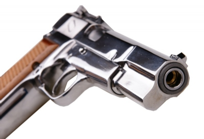 WE Browning Hi-Power (M1935) Full Metal GBB Pistol - Silver