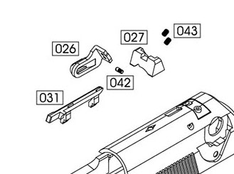 WE M92 New Version Replacement Part #27 - Rear Sight