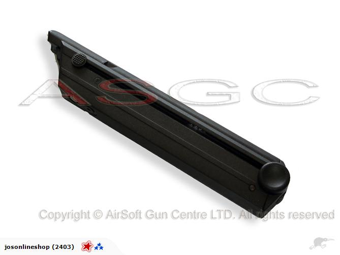 WE P08 LUGER 15rd Gas Metal Magazine - Black