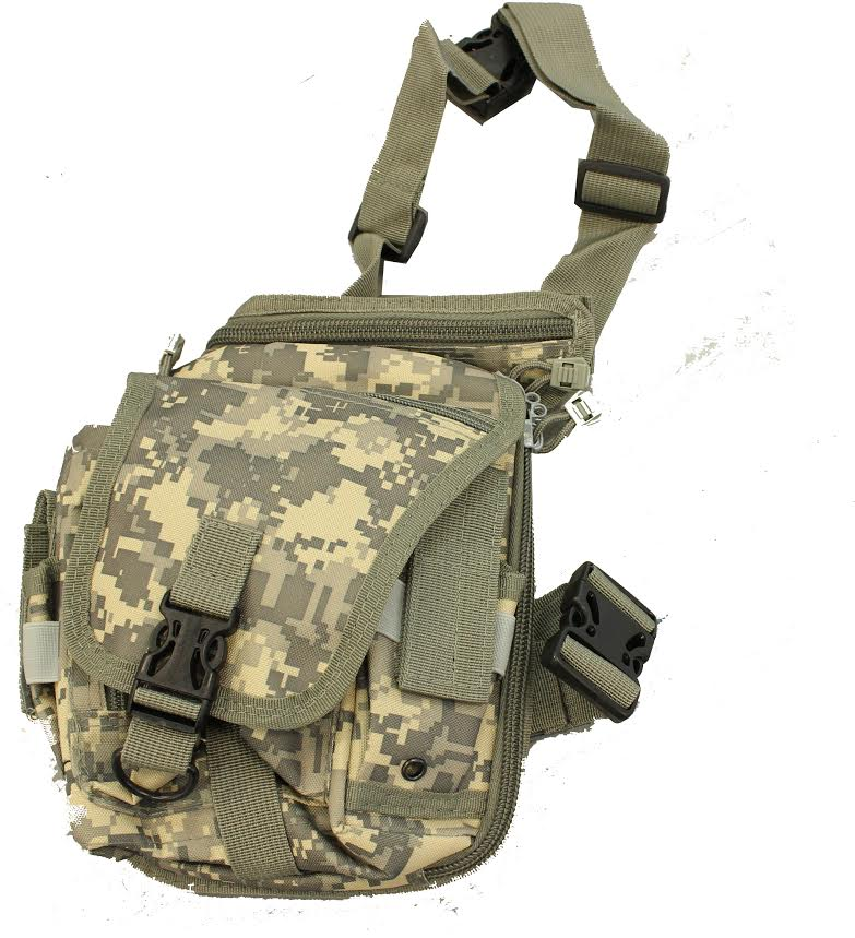 WOLF FORCE TACTICAL DROP LEG UTILITY POUCH - ACU