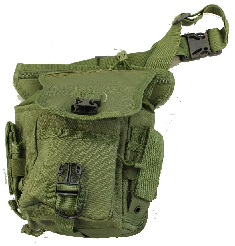 WOLF FORCE TACTICAL DROP LEG UTILITY POUCH - OD
