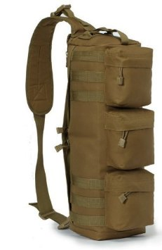 WOLF FORCE TRANSFORMERS MOLLE TACTICAL SHOULDER GO PACK BAG -TAN