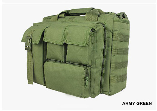 Wolf Force Tactical Molle Messenger Laptop Bag - OD