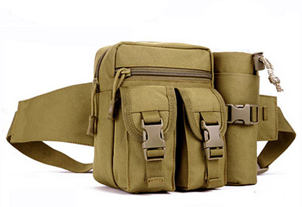 Wolf Force T&B Tactical Waist Pouch - Tan
