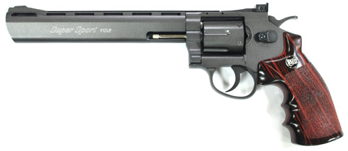 WinGun 8 inch Co2 Revolver - Black (703B)