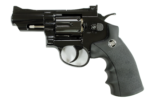 WinGun 2.5 inch Co2 Revolver - Bright Black (708K)