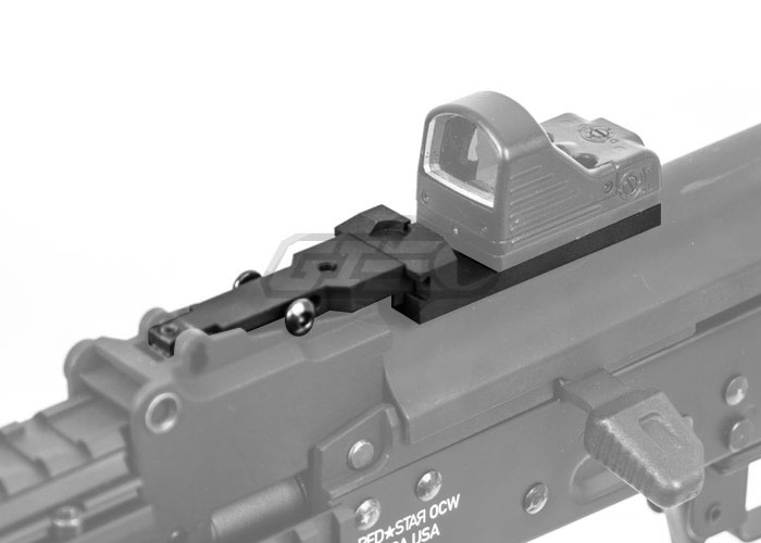 Angry Gun Tactical AK Red Dot Mount with Rear Iron Sight (MRDS)