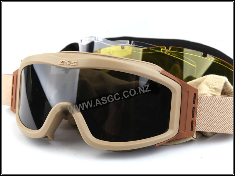CM ESS Style Eye Protection Goggles - Tan