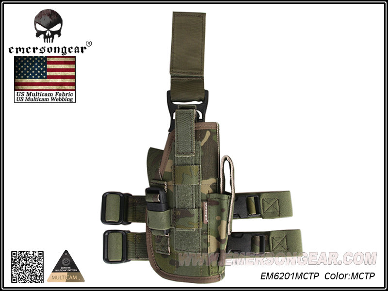 Emerson Sales Drop Leg Holster - Multicam Tropic(Genuine Fabric)