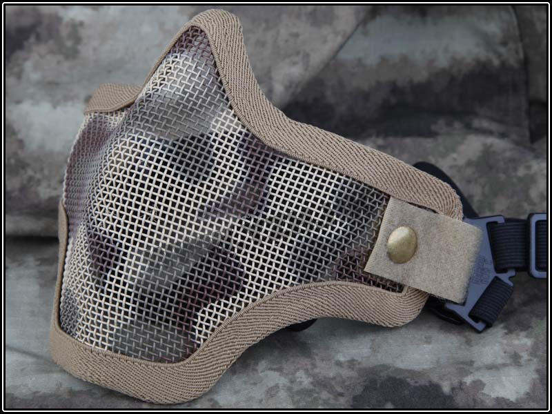Emerson Strike Steel Mesh Half Face Mask - Desert