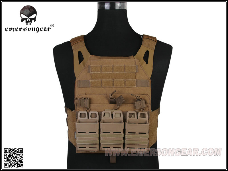 Emerson Gear Jump Plate Carrier (JPC) w/ Fast style Pouches - CB