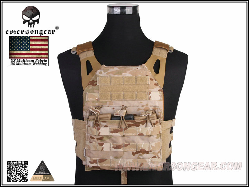 EMERSON JPC Tactical Lightweight Plate Carrier - Multicam Arid