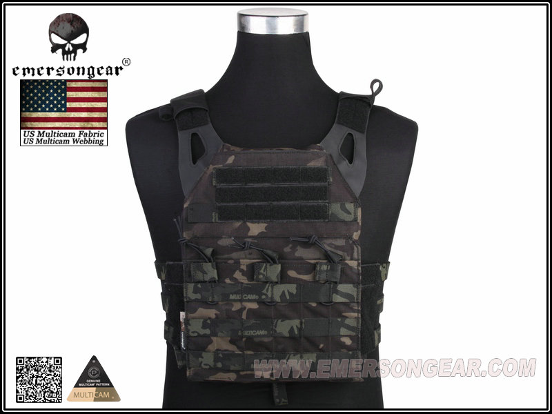 EMERSON JPC Tactical Lightweight Plate Carrier - Multicam Black